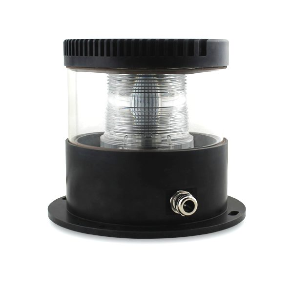 black led based medium intensity red obstruction light