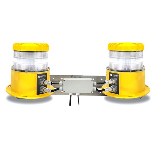 yellow ledbased medium intensity double obstruction light