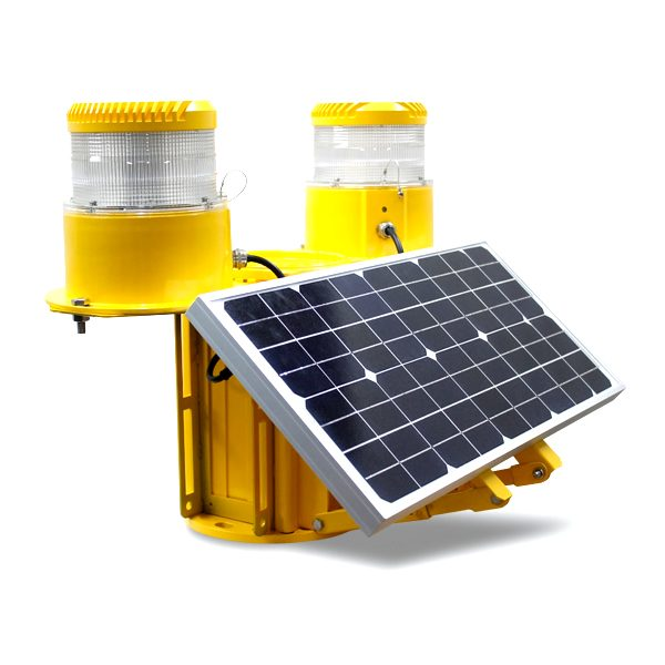 solar powered led medium intensity double obstruction light