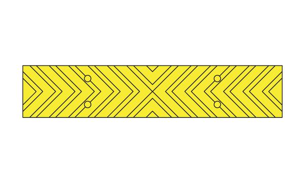 yellow chevron strip