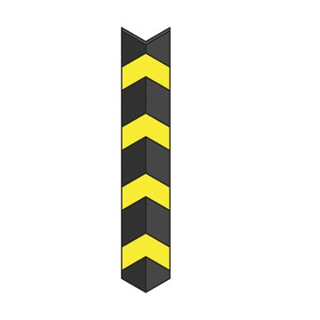 black and yellow straight corner protector