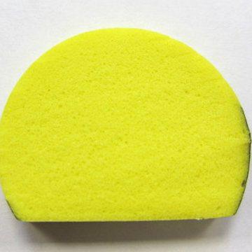 black and yellow round foam edge