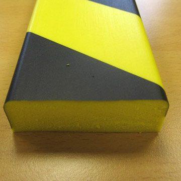 black and yellow flat foam edge