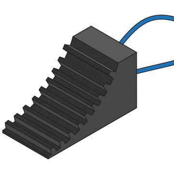 black small rubber chock