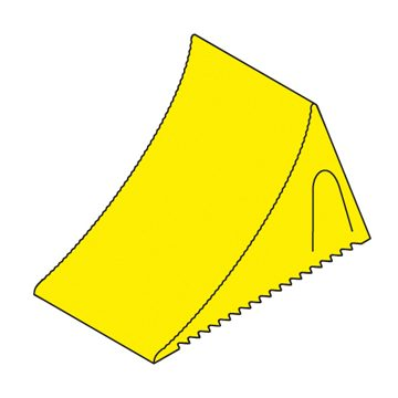 yellow plastic chock