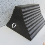 black solid pyramid chock