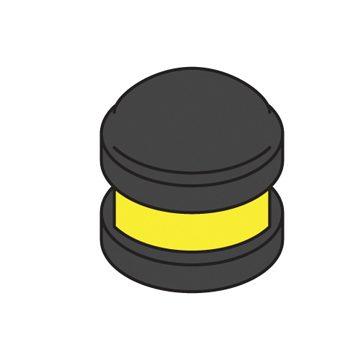 black bollard cap