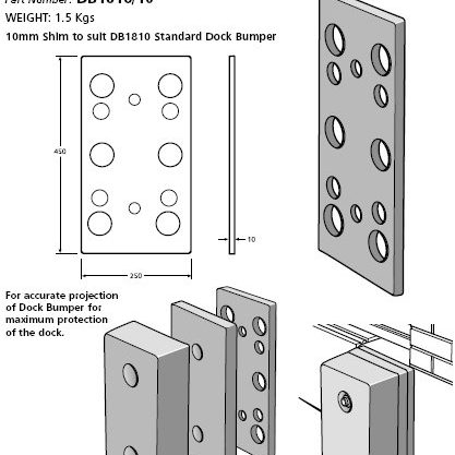 dock bumper plate assembly