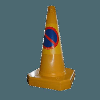yellow traffic cone