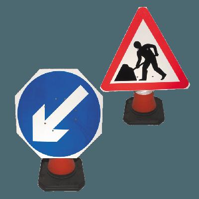 workmen traffic signs