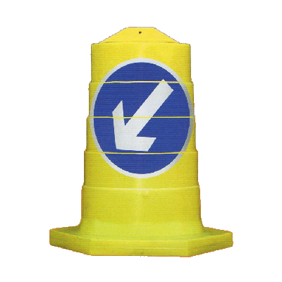 keep left traffic barrier