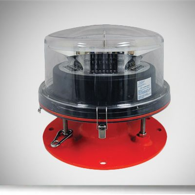 red medium intensity strobe beacon