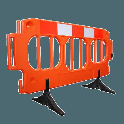 orange large traffic barrier