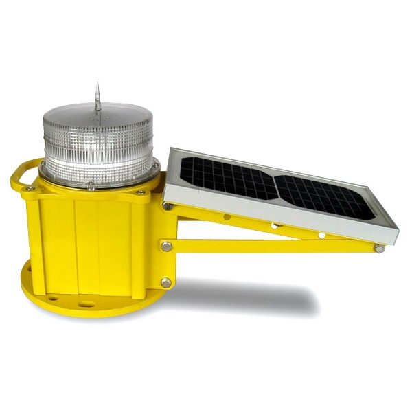 solar powered low intensity obstruction light