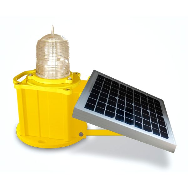 solar based llow intensity obstruction light