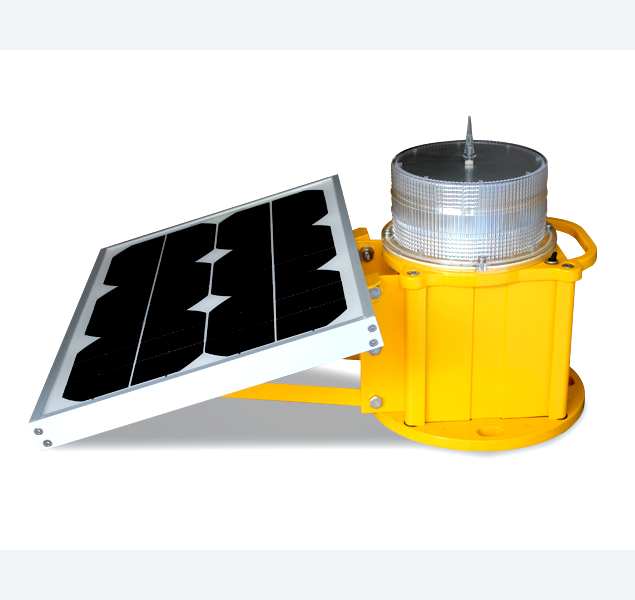 solar lamp low intensity obstruction light