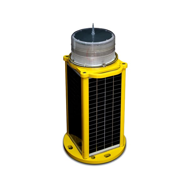 solar based low intensity obstruction light