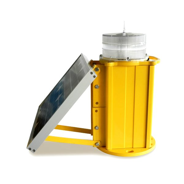 yellow solar powered led medium intensity obstruction light
