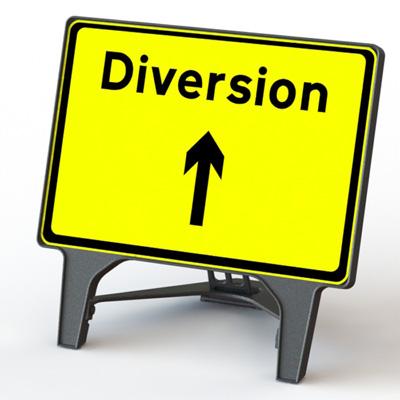 diversion signs