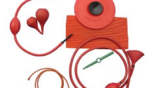 red rubber surgical products