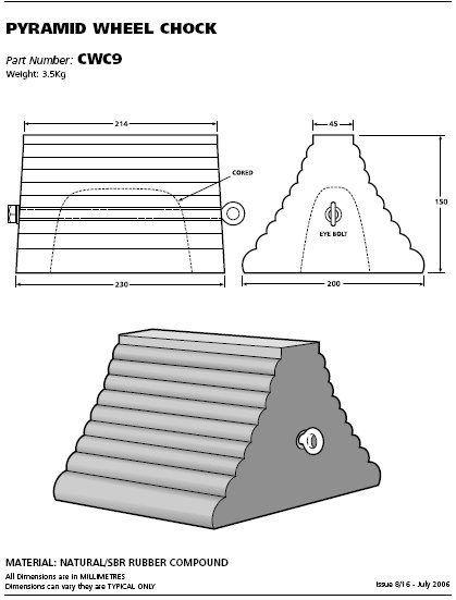 hollow pyramid chock