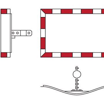 rectangular convex mirror