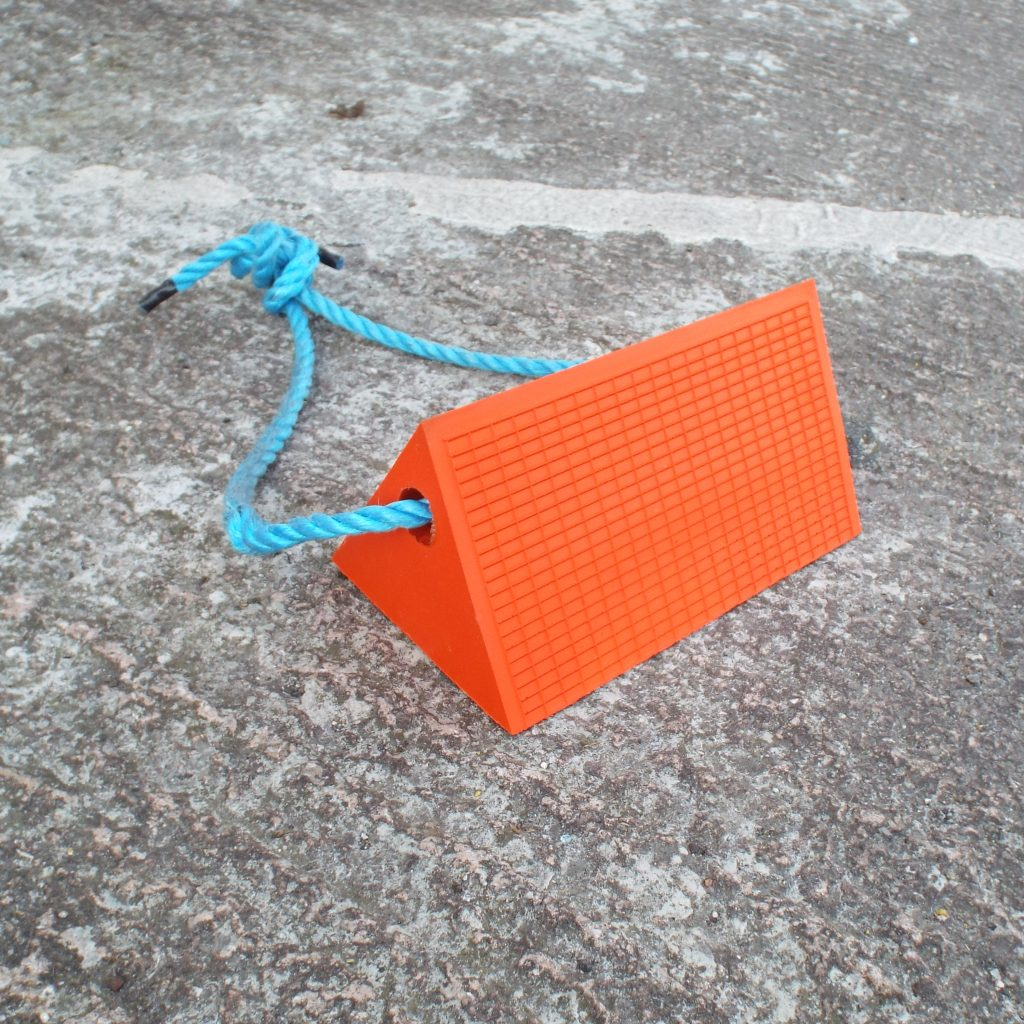 lightweight orange pu chock