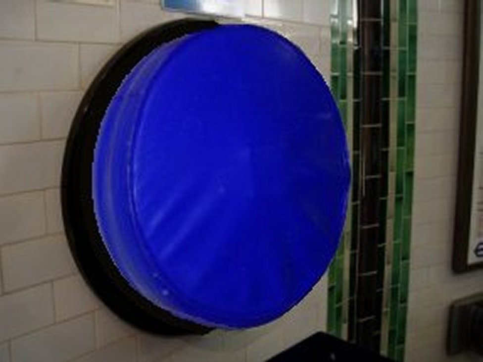 blue help point cover london underground