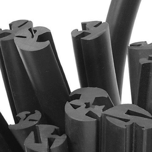 black rubber extrusions