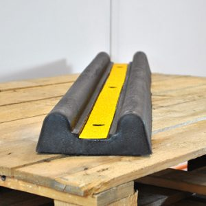 black and yellow heavy duty wall guard