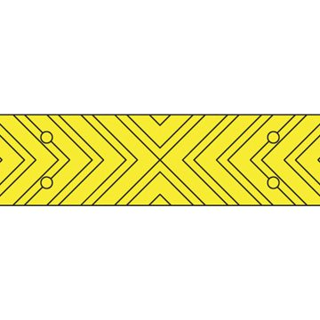 yellow chevron strip