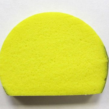 black and yellow round foam edge