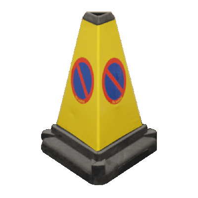 3 sided yellow bollard