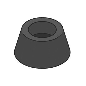 black rubber buffer