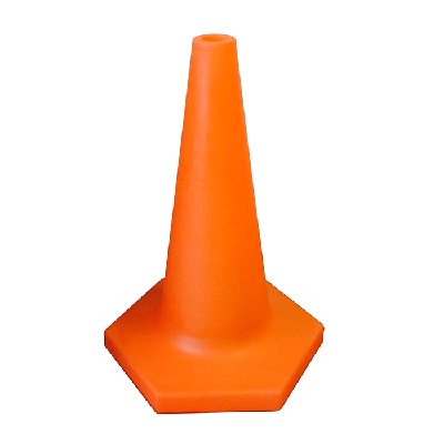 orange heavy duty traffic cone