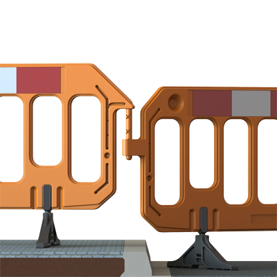 orange gate traffic barrier