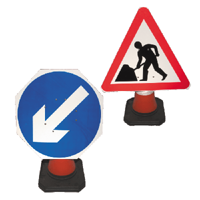 workmen traffic signs