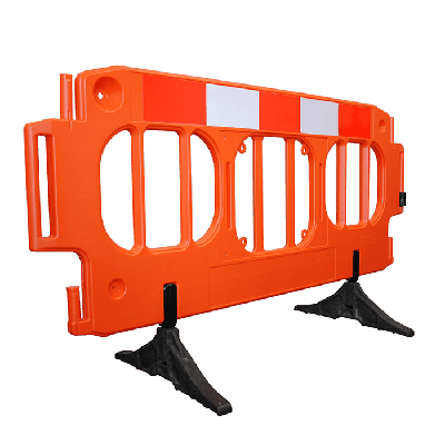 orange large traffic barrier