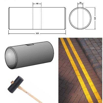 maul head for road markings