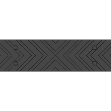 black chevron strip