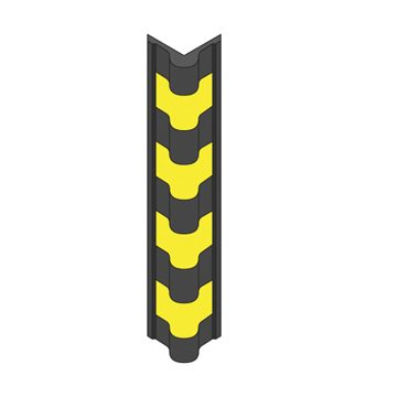 black and yellow bullnose protector
