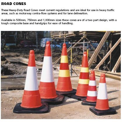 orange heavy duty road cones