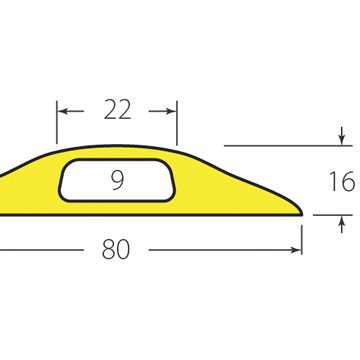 yellow cable protector dimensions